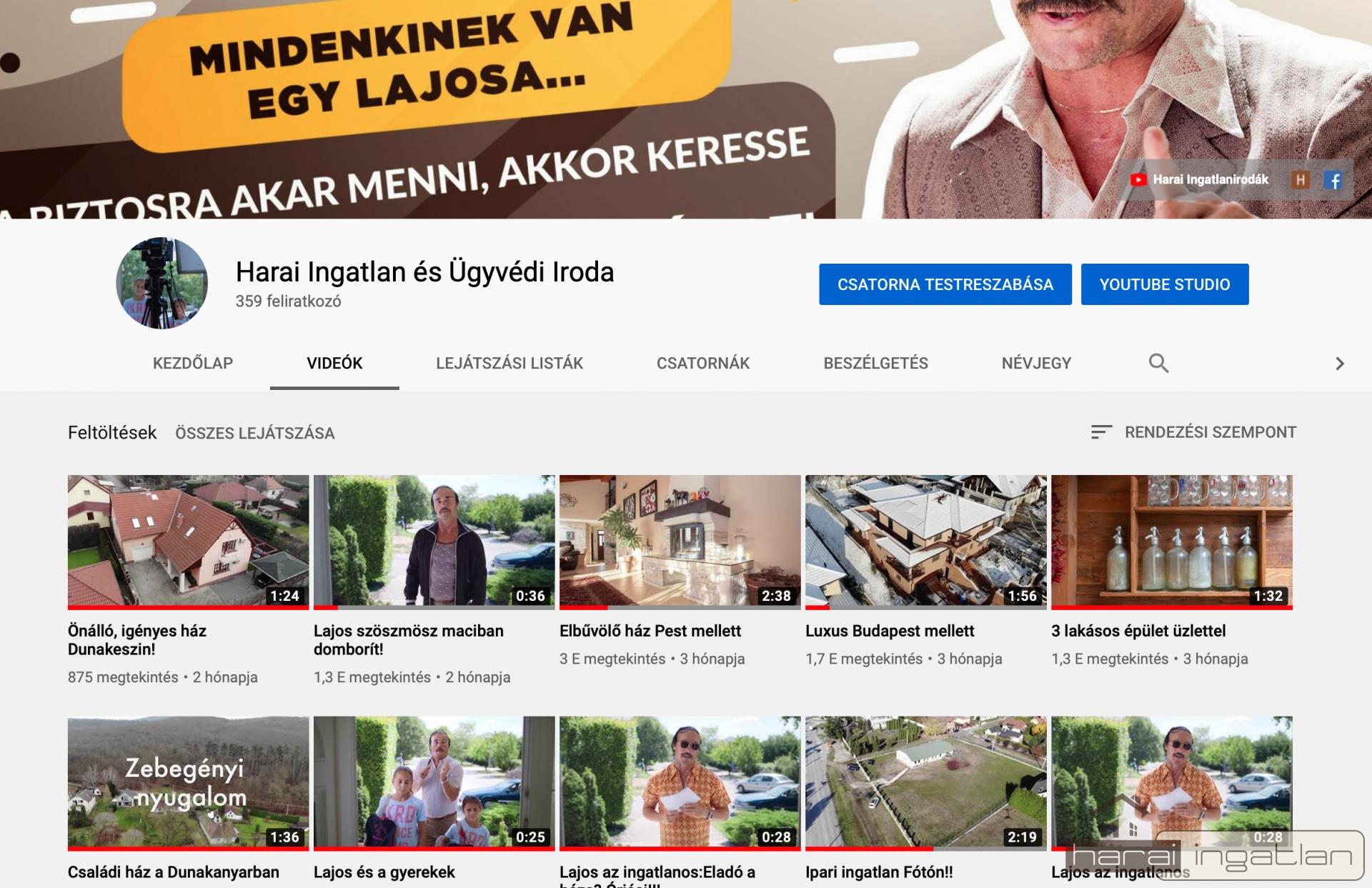 Keresse fel Ön is cégünk youtube videó csatornáját!