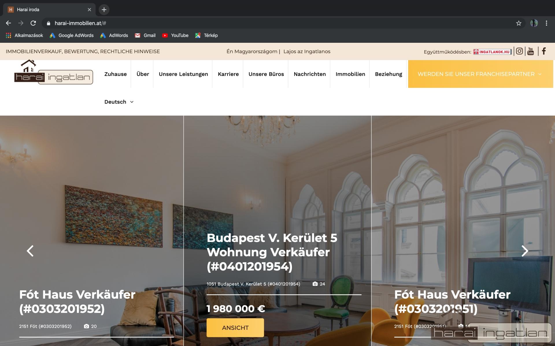 Már a www.harai-immobilien.at domain címen is elérhetik irodánk német nyelvű oldalát!